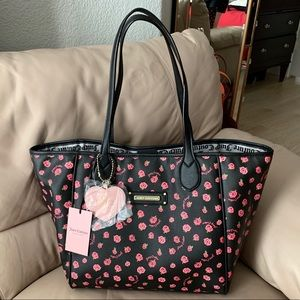 Juicy Couture Love Me Not Black Rose Large Tote